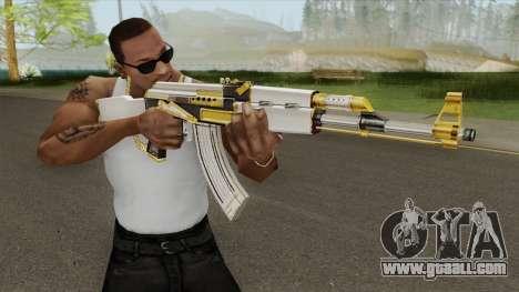 AK-47 White Gold for GTA San Andreas