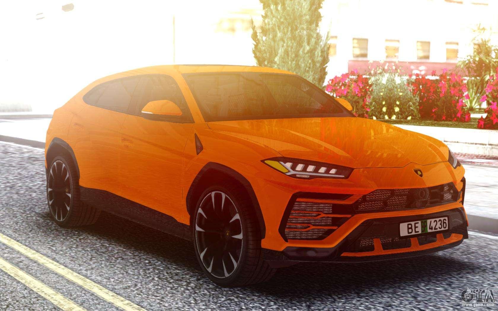 Lamborghini Urus Orange for GTA San Andreas