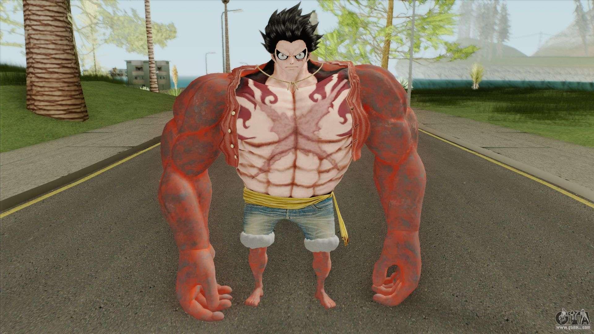 Monkey D Luffy Gear Fourth Transformation For Gta San Andreas