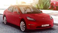 Tesla Model 3 Red for GTA San Andreas