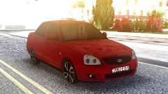 Lada 2170 Priora Red for GTA San Andreas