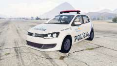 Volkswagen Gol 5-door Policia Militar Brasil for GTA 5