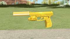 Wolfram P2K Gold Silenced (007 Nightfire) for GTA San Andreas