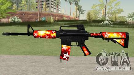 M4A1 (Galaxy Stars Fire Skin) for GTA San Andreas