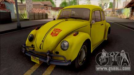 Volkswagen Beetle Transformers G1 Bumblebee for GTA San Andreas