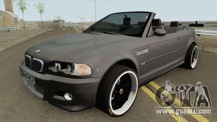 BMW M3 E46 Cabrio MQ for GTA San Andreas