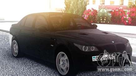 BMW M5 E60 M Black & White for GTA San Andreas