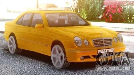 Mercedes-Benz E55 W210 Yellow for GTA San Andreas