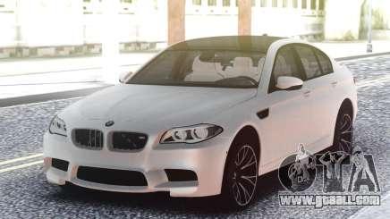 BMW M5 F10 White Sedan for GTA San Andreas