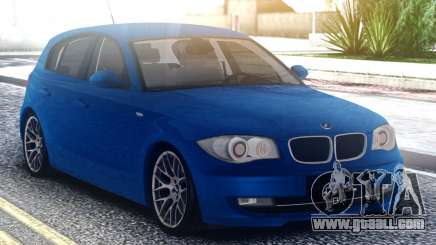 BMW 120i Blue for GTA San Andreas