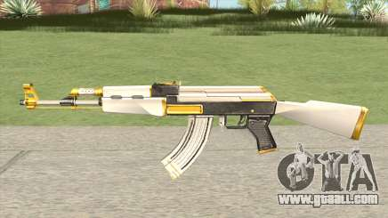 AK-47 White Gold for GTA San Andreas