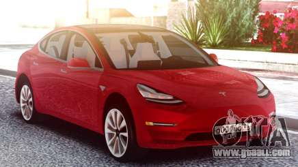 Tesla Model 3 Red for GTA San Andreas
