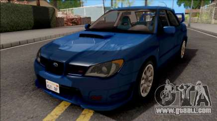 Subaru Impreza WRX STi Blue for GTA San Andreas