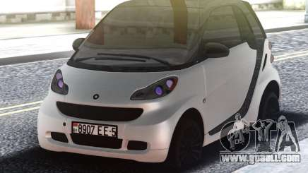 Smart ForTwo White for GTA San Andreas
