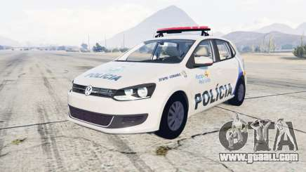 Volkswagen Gol 5-door Policia Militar Brasil for GTA 5
