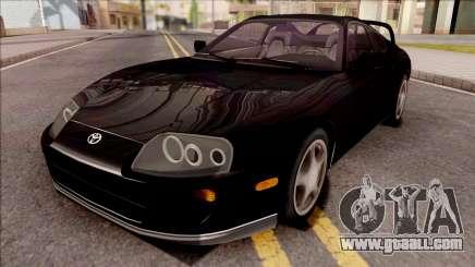 Toyota Supra Black for GTA San Andreas