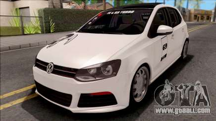 Volkswagen Polo 1.6 TDI-R Black Smoke for GTA San Andreas