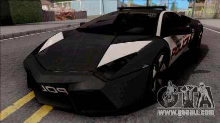 Lamborghini Reventon Police Black for GTA San Andreas