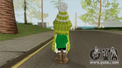 Inkling Girl Green (Splatoon) for GTA San Andreas