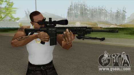 KAC SR-25 Semi Automatic Sniper Rifle for GTA San Andreas