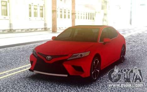 Toyota Camry XSE V6 3.5 2018 LQ for GTA San Andreas