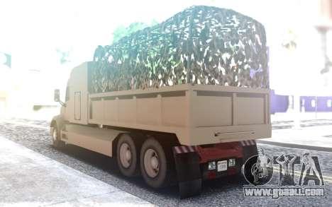 Peterbilt 579 Army Truck LQ for GTA San Andreas