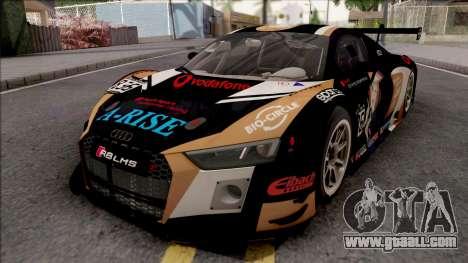 Audi R8 LMS 2016 Paint Job Preset 1 for GTA San Andreas