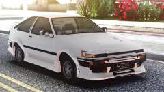 Toyota Corolla AE86 Original White for GTA San Andreas