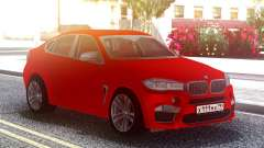 BMW X6M Original Red for GTA San Andreas