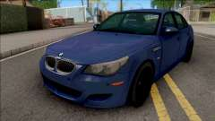 BMW M5 E60 2009 Blue for GTA San Andreas