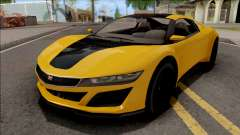 GTA V Dinka Jester Yellow for GTA San Andreas