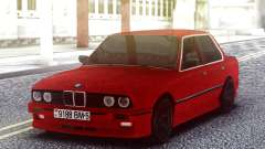 BMW E30 Red Sedan for GTA San Andreas