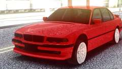BMW 750IL Red for GTA San Andreas