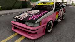 Toyota AE86 Itasha for GTA San Andreas
