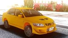 Mitsubishi Lancer Evolution VII Yellow for GTA San Andreas