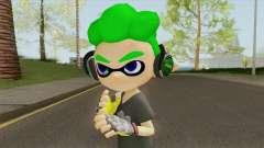 Inkling Boy Green V2 (Splatoon) for GTA San Andreas