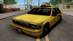 Сhevrolet Caprice 1992 Yellow Cab Taxi Sa Style for GTA San Andreas