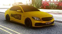 Mercedes-Benz C63 FAKE TAXI for GTA San Andreas