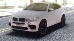 BMW X6M White Original for GTA San Andreas