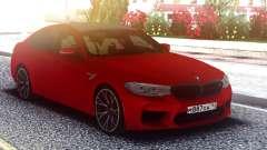 BMW M5 F90 Original Red for GTA San Andreas