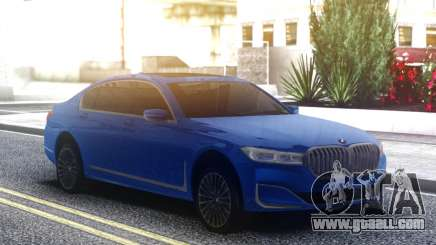BMW 750Li Blue Original for GTA San Andreas