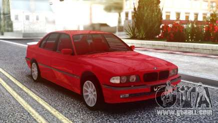 BMW 730i Original Red for GTA San Andreas