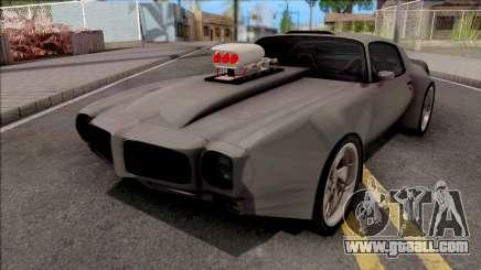 Pontiac Firebird 1970 Grey for GTA San Andreas