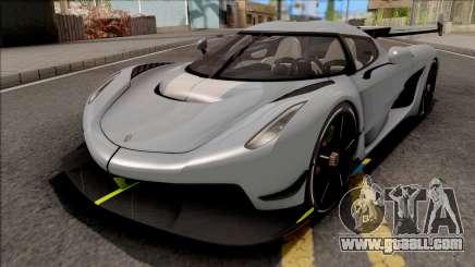 Koenigsegg Jesko 2020 Grey for GTA San Andreas
