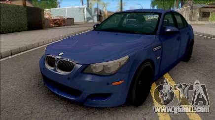 BMW M5 E60 2009 Blue for GTA San Andreas