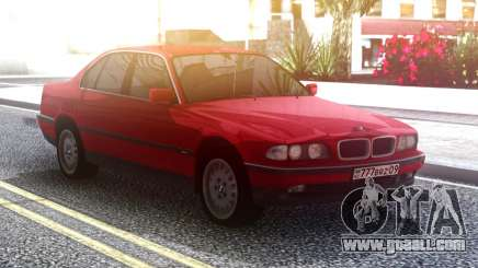 BMW 730 E38 Red Original for GTA San Andreas