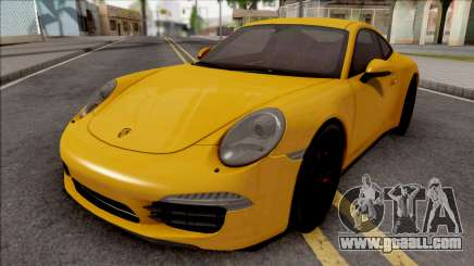 Porsche 911 Carrera S Yellow for GTA San Andreas