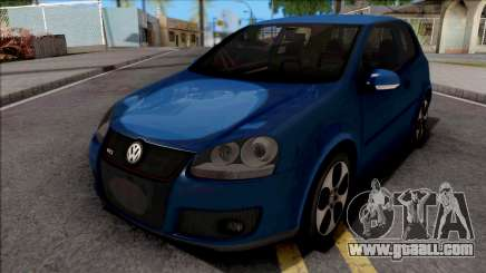 Volkswagen Golf GTI Blue for GTA San Andreas