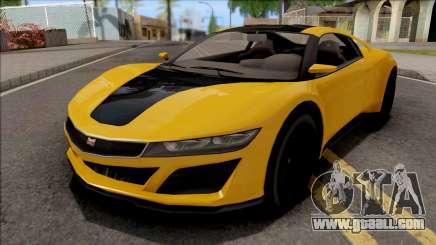 GTA V Dinka Jester Yellow for GTA San Andreas