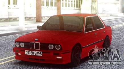 BMW E30 Red Sedan for GTA San Andreas